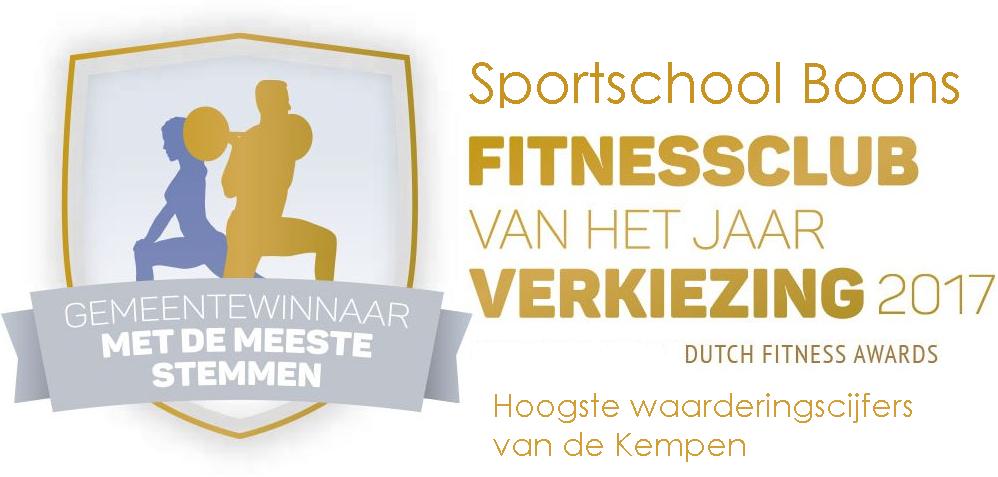 Winnaar Fitness club van het jaar verkiezing!